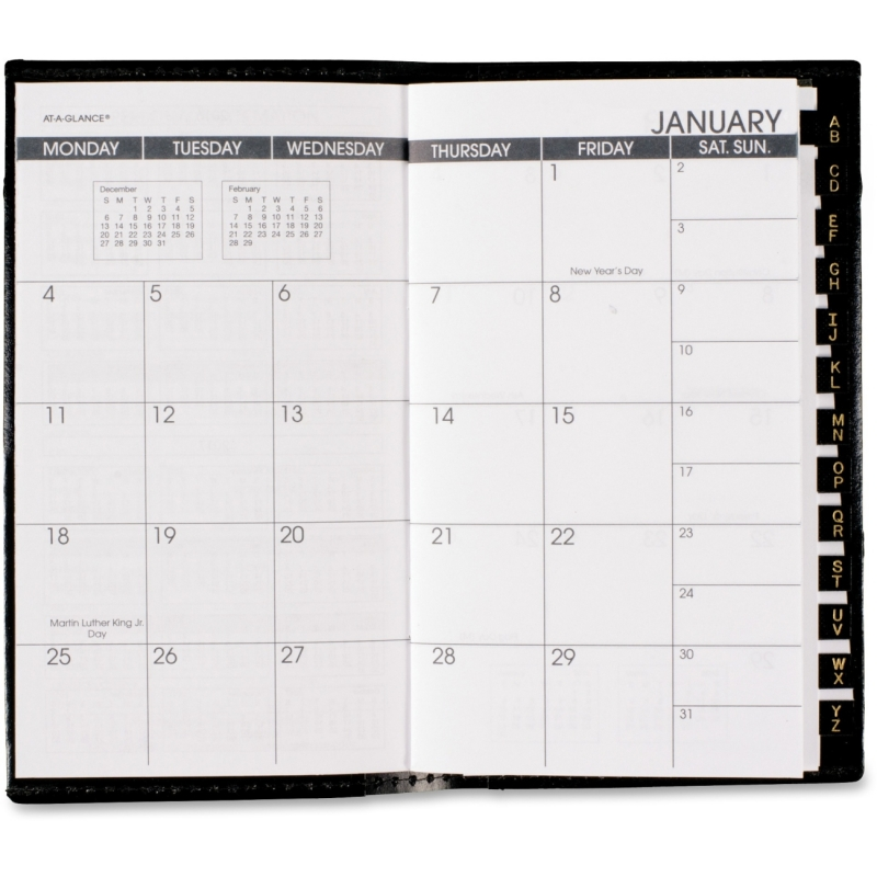 At-A-Glance At-A-Glance Deluxe Pocket Monthly Planner 70-064-05 AAG7006405