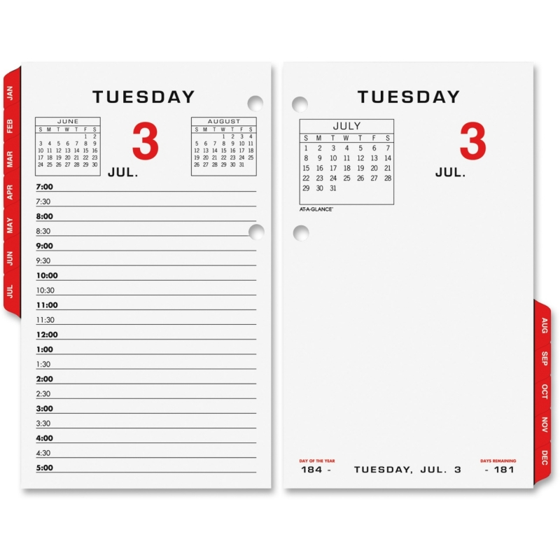 At-A-Glance At-A-Glance Loose Leaf Desk Calendar Refill E017-50 AAGE01750