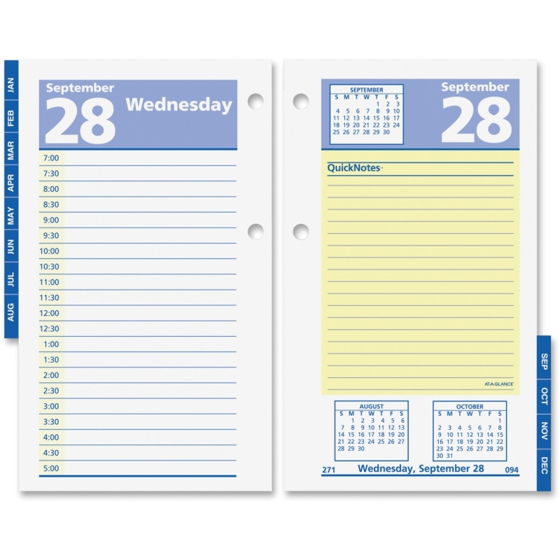 At-A-Glance At-A-Glance QuickNotes Daily Desk Calendar Refill E517-50 AAGE51750