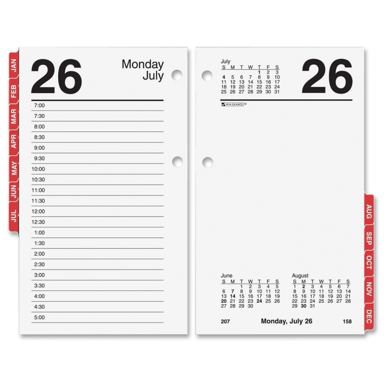 At-A-Glance At-A-Glance Monthly Desk Calendar Refill with Monthly Tabs E717T-50 AAGE717T50