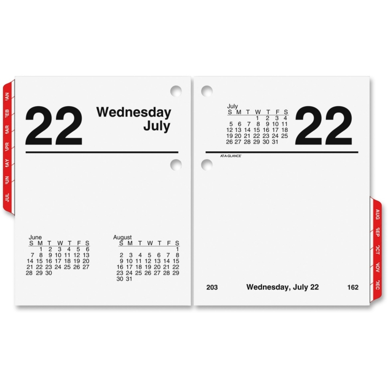 At-A-Glance At-A-Glance Compact Size Daily Desk Calendar Refill E919-50 AAGE91950