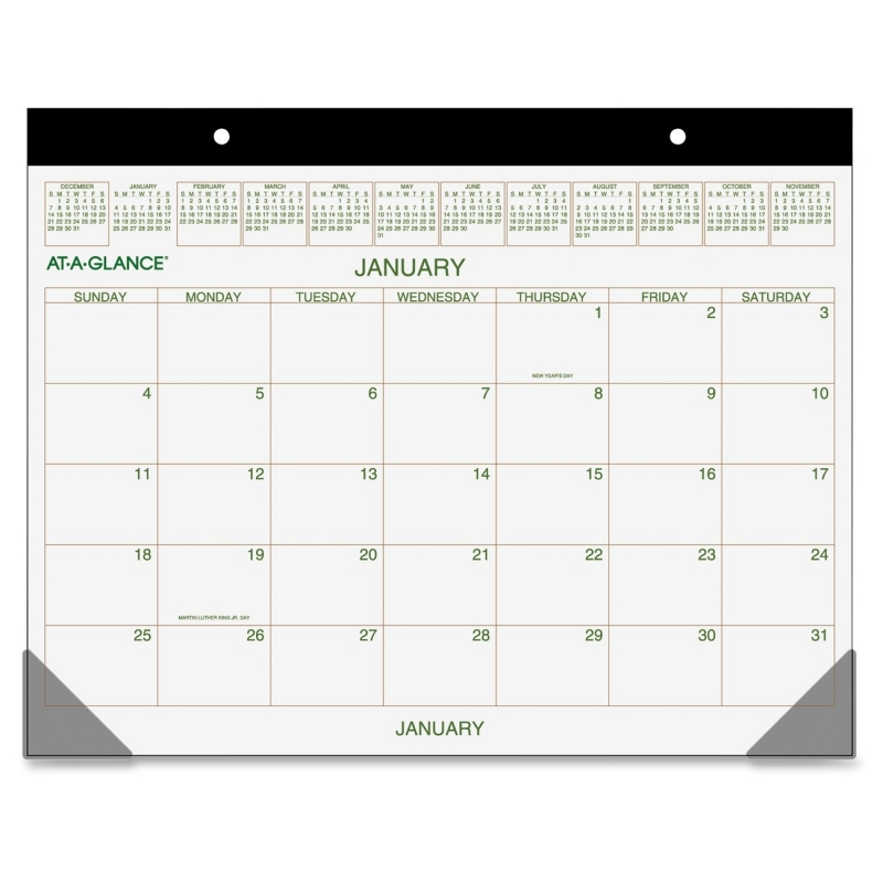 At-A-Glance At-A-Glance Recycled 2-Color Desk Pad Calendar GG2500-00 AAGGG250000