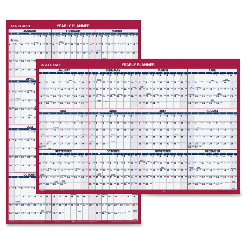 At-A-Glance At-A-Glance Reversible Yearly Wall Calendar PM212-28 AAGPM21228