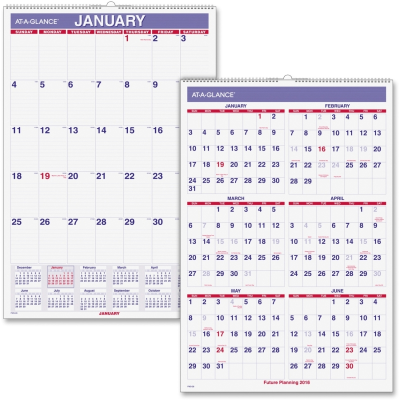 At-A-Glance At-A-Glance Wall Calendar with Hanger PM3-28 AAGPM328