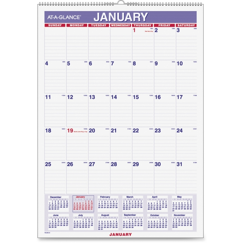 At-A-Glance At-A-Glance Wall Calendar PMLM02-28 AAGPMLM0228