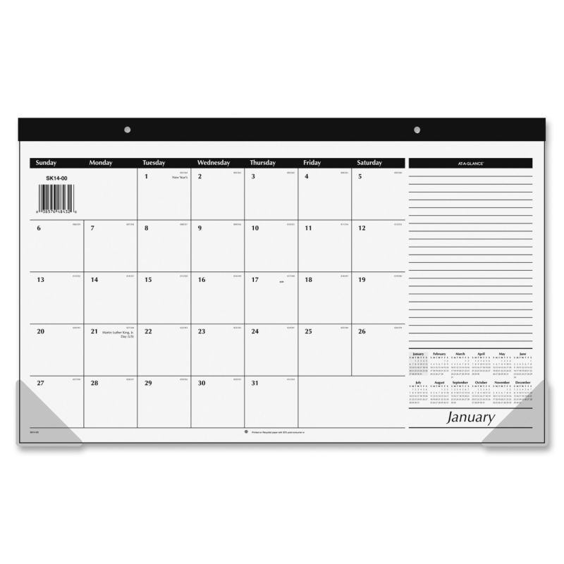 At-A-Glance At-A-Glance Monthly Compact Full Year Desk Pad Calendar SK14-00 AAGSK1400