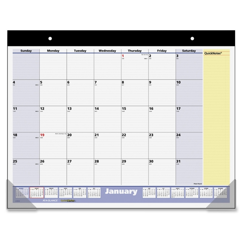 At-A-Glance At-A-Glance QuickNotes 13-Months Desk and Wall Pad SK700-00 AAGSK70000