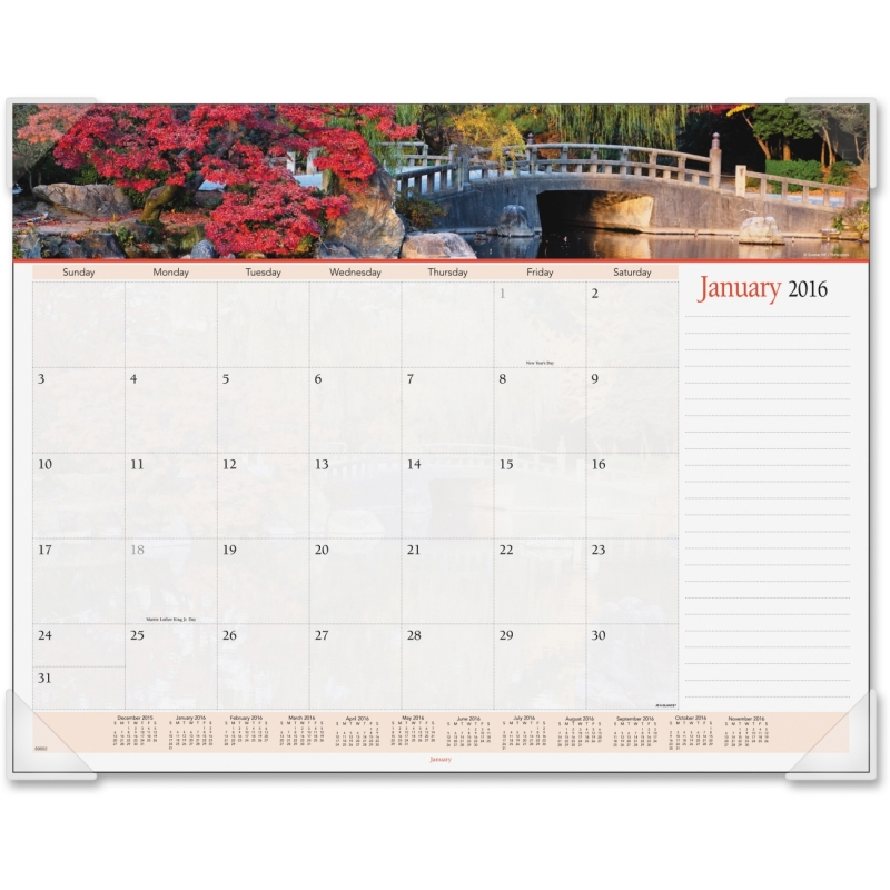 At-A-Glance At-A-Glance Panoramic Landscape Desk Pad Calendar 89802 AAG89802
