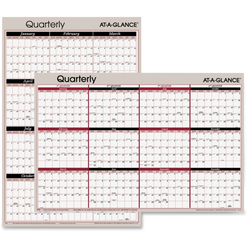 At-A-Glance At-A-Glance Classic Series Quarterly Organizer A123 AAGA123