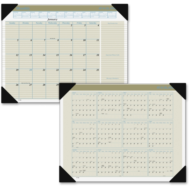 At-A-Glance At-A-Glance Executive Monthly Desk Pad Calendar HT1500 AAGHT1500