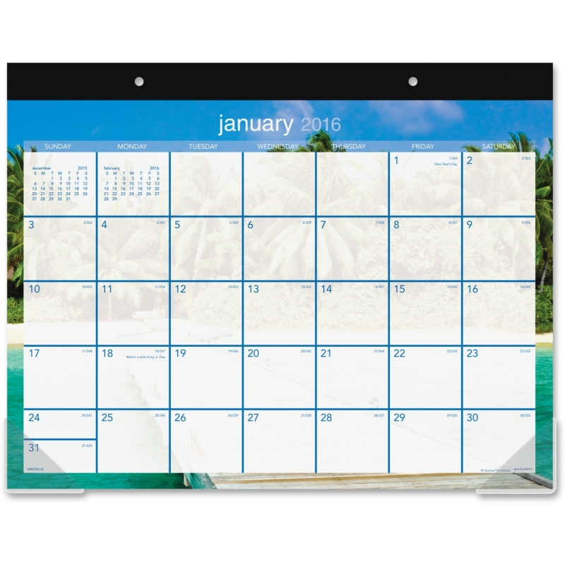 At-A-Glance At-A-Glance Tropical Escape Desk Pad Calendar DMDTE232 AAGDMDTE232