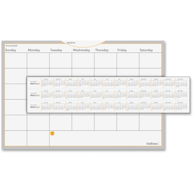 At-A-Glance At-A-Glance Wallmates Dry Erase Planning Surface AW602028 AAGAW602028