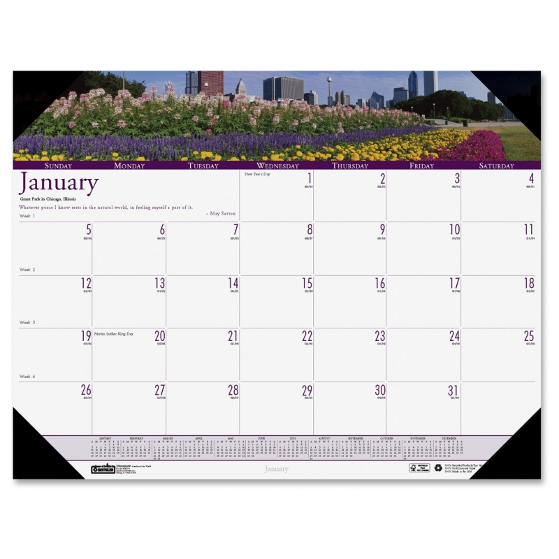 House of Doolittle Earthscapes Gardens of the World Desk Pad Calendar 174 HOD174