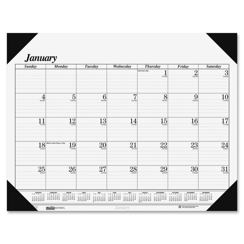 House of Doolittle One-Color Desk Pad Calendar 0124 HOD0124