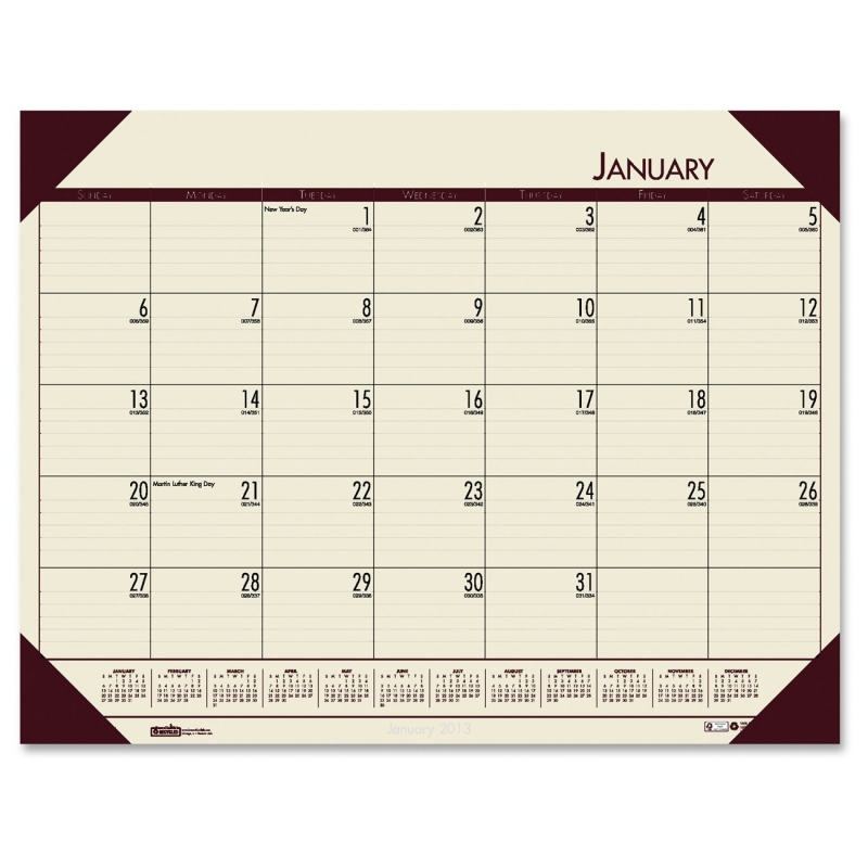House of Doolittle EcoTones Desk Pad Calendar 124-43 HOD12443