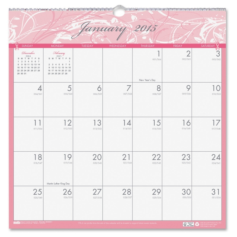 House of Doolittle Breast Cancer Awareness Wall Calendar 3671 HOD3671