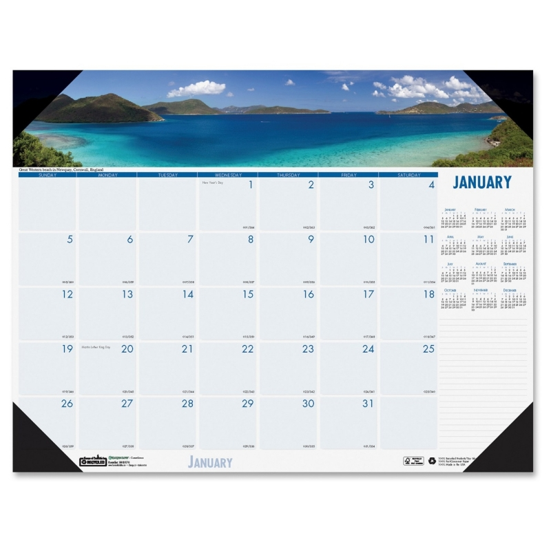 House of Doolittle Earthscapes Coastlines Desk Pad Calendar 1786 HOD1786