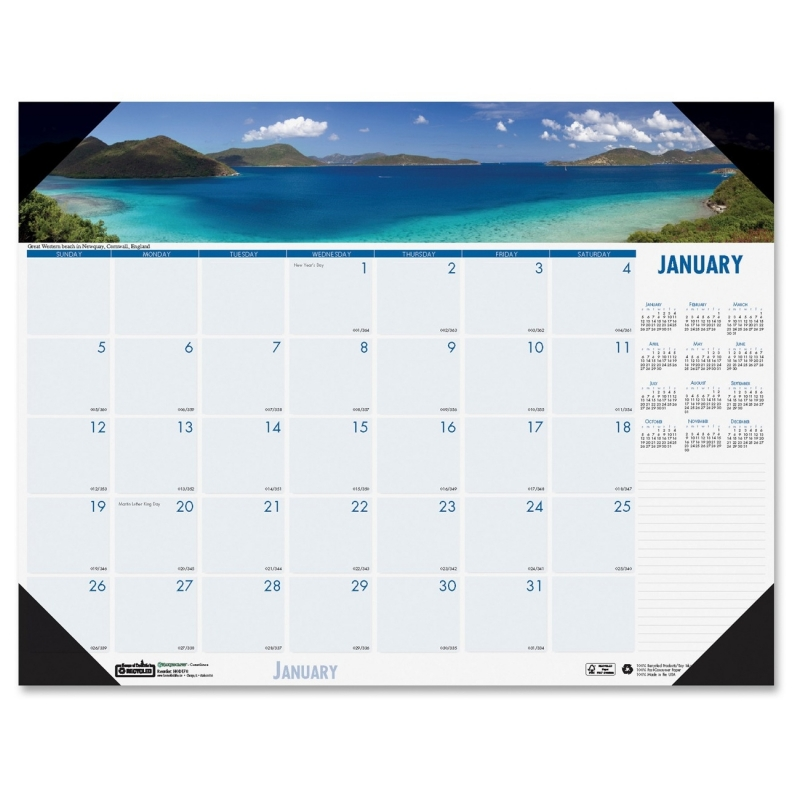 House of Doolittle Earthscapes Coastlines Desk Pad Calendar 178 HOD178
