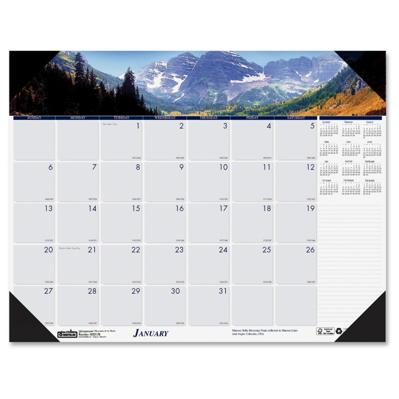 House of Doolittle Earthscapes Mountains of the World Desk Pad Calendar 176 HOD176