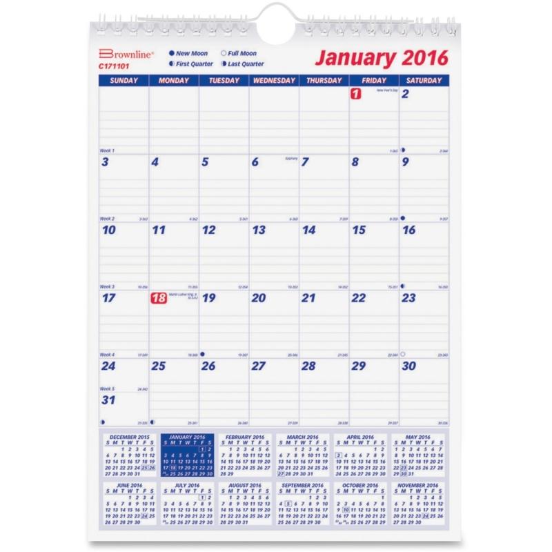 Rediform Rediform Monthly Wall Calendar C171101 REDC171101