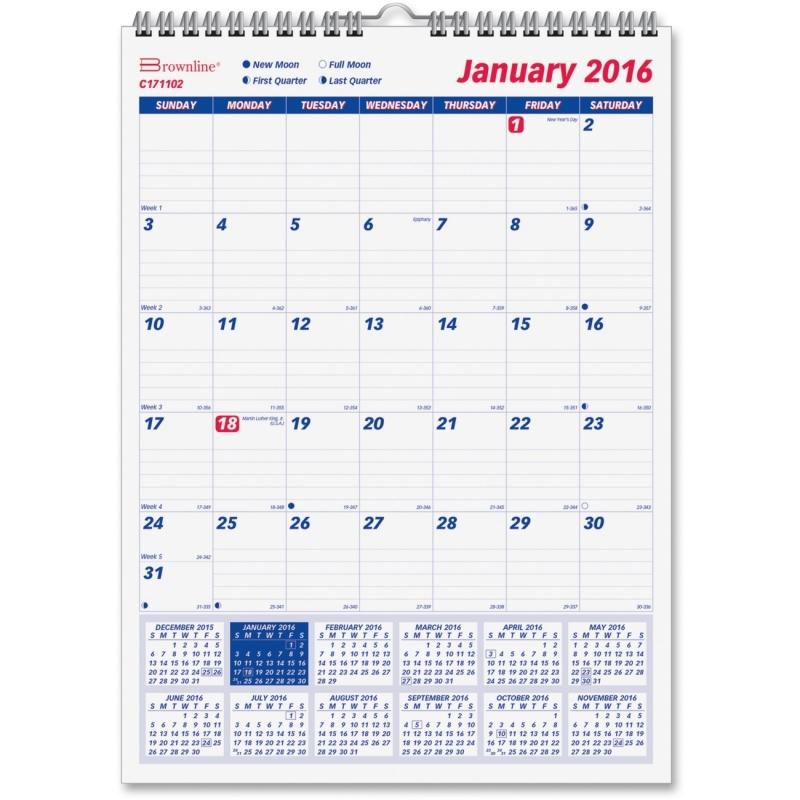 Rediform Rediform Monthly Wall Calendar C171102 REDC171102
