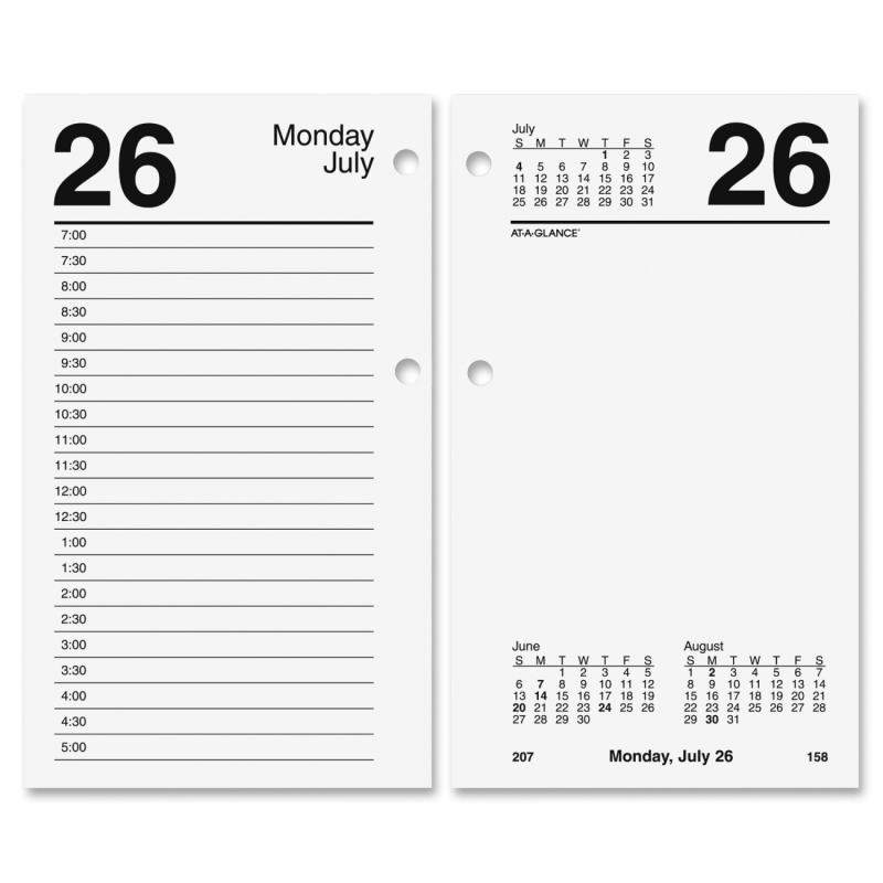At-A-Glance At-A-Glance Recycled Desk Calendar Refill E717R50 AAGE717R50