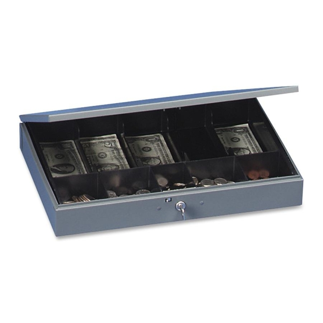 MMF MMF Steelmaster Cash Box with Tray 2215CBTGY MMF2215CBTGY