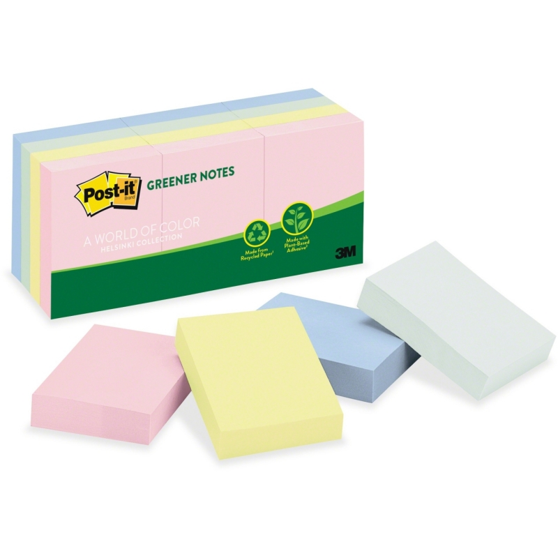 Post-it Post-it Helsinki Recycled Notes 653-RP-A MMM653RPA