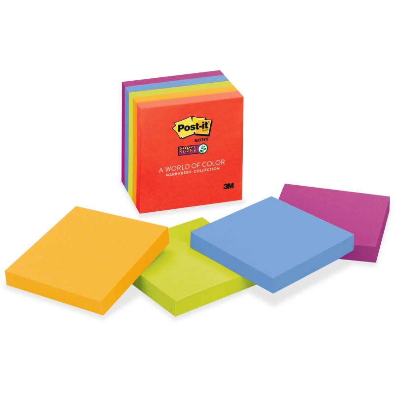 """Post-it Post-it Super Sticky 3""""x3"""" Marrakesh Notes 654-5SSAN MMM6545SSAN"""