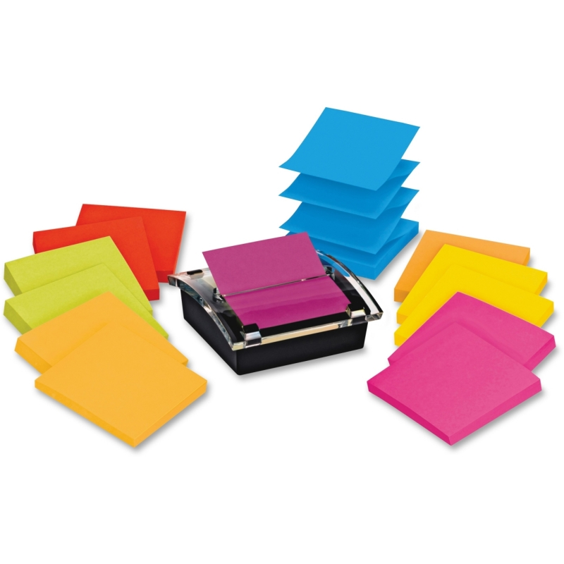 Post-it Post-it Super Sticky Pop-up Notes Dispenser with Post-it Notes in Assorted Bright Colors DS330-SSVA