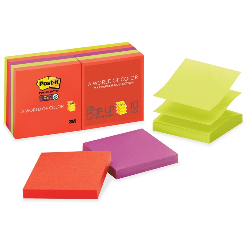 Post-it Post-it Super Sticky Marrakesh Pop-up Refills R330-10SSAN MMMR33010SSAN