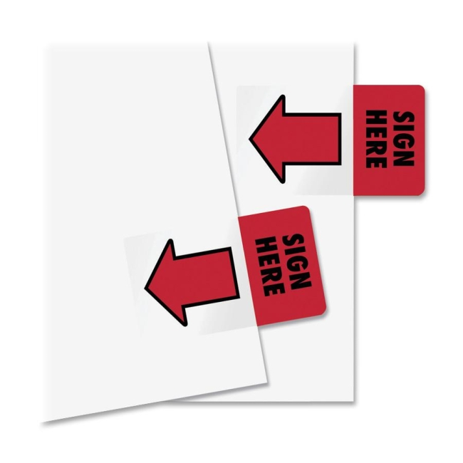 Redi-Tag Redi-Tag Sign Here Adhesive Page Flags 76809 RTG76809