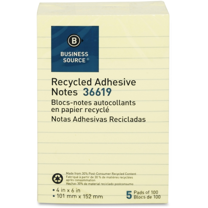 Business Source Adhesive Note 36619 BSN36619