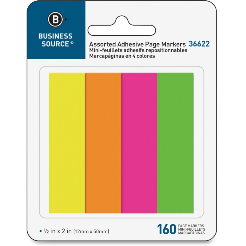 Business Source Page Marker Pad 36622 BSN36622
