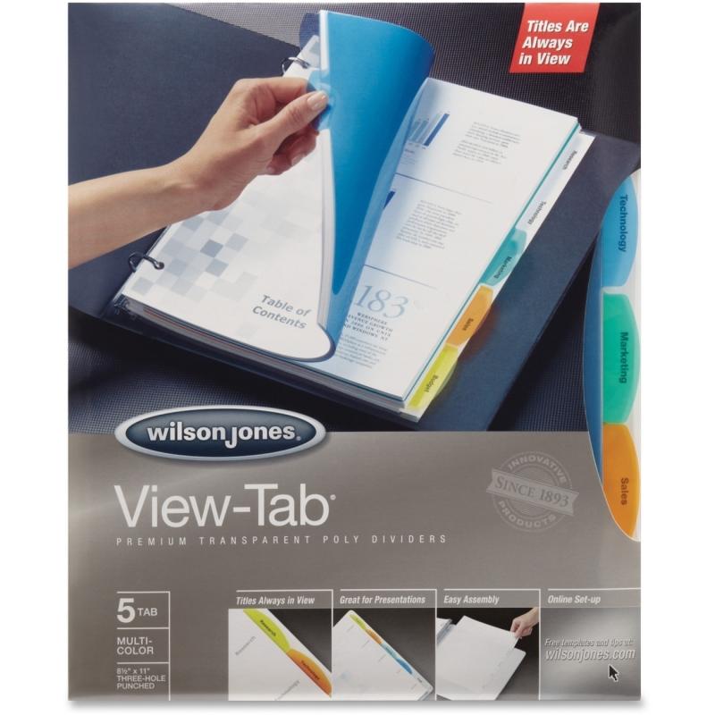 Wilson Jones Wilson Jones View-Tab Transparent Dividers W55565 WLJ55565