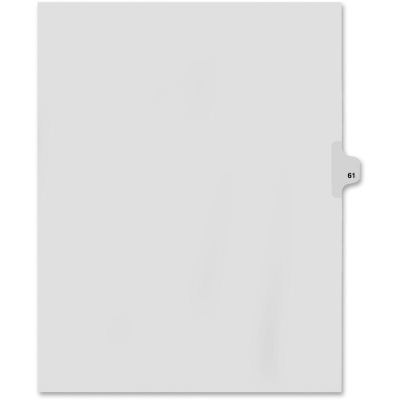 Kleer-Fax Kleer-Fax 80000 Series Numerical Side Tab Index Divider 82261 KLF82261