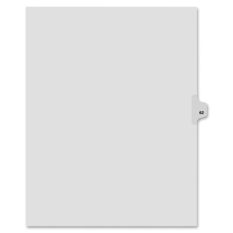 Kleer-Fax Kleer-Fax 80000 Series Numerical Side Tab Index Divider 82262 KLF82262
