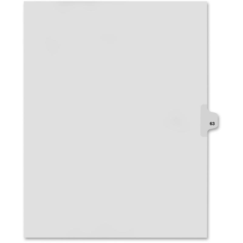 Kleer-Fax Kleer-Fax 80000 Series Numerical Side Tab Index Divider 82263 KLF82263