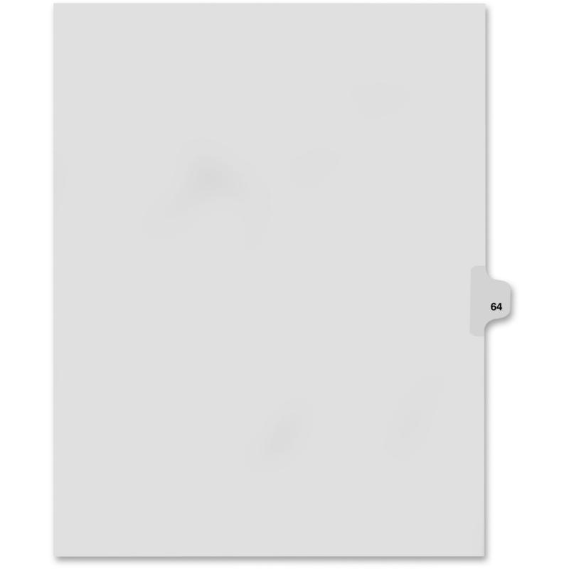 Kleer-Fax Kleer-Fax 80000 Series Numerical Side Tab Index Divider 82264 KLF82264