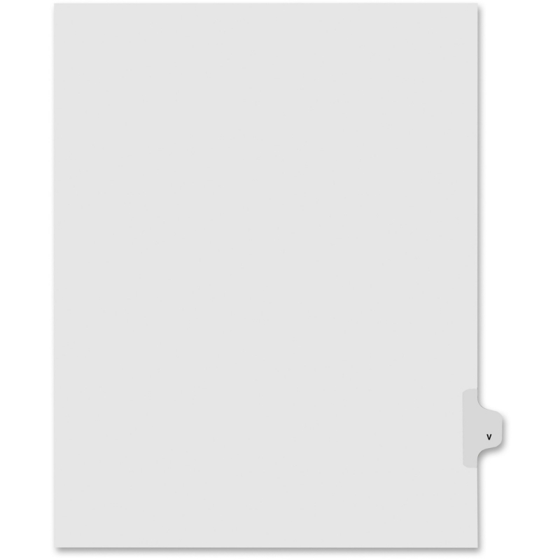 Kleer-Fax Kleer-Fax 80000 Series Legal Exhibit Index Divider 80022 KLF80022