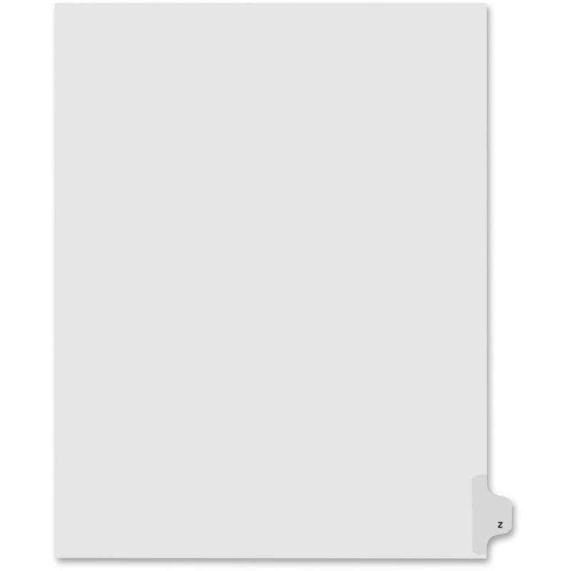 Kleer-Fax Kleer-Fax 80000 Series Legal Exhibit Index Divider 80026 KLF80026