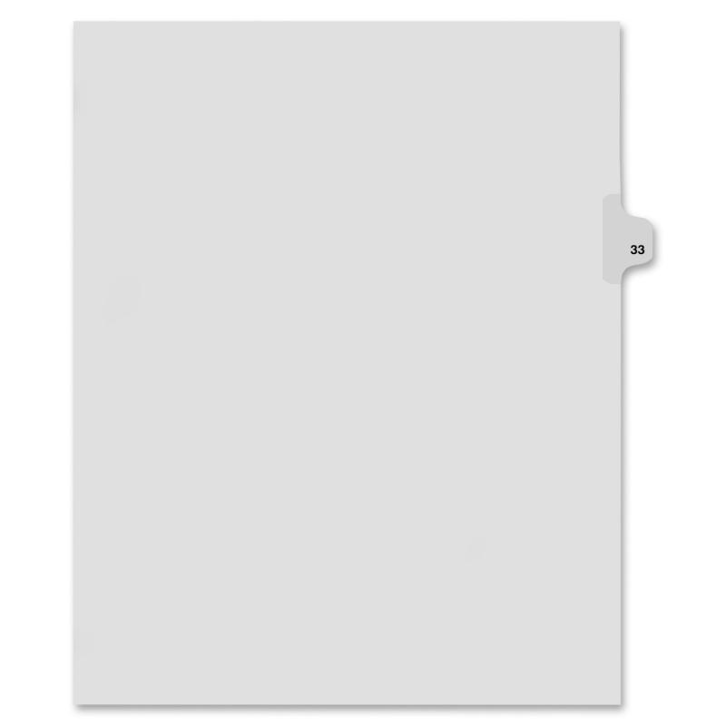 Kleer-Fax Kleer-Fax 80000 Series Side Tab Legal Exhibit Index Divider 82233 KLF82233