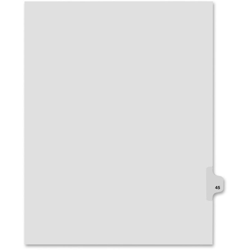 Kleer-Fax Kleer-Fax 80000 Series Side Tab Legal Exhibit Index Divider 82245 KLF82245