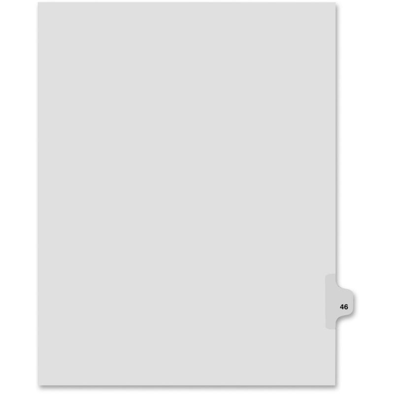 Kleer-Fax Kleer-Fax 80000 Series Side Tab Legal Exhibit Index Divider 82246 KLF82246