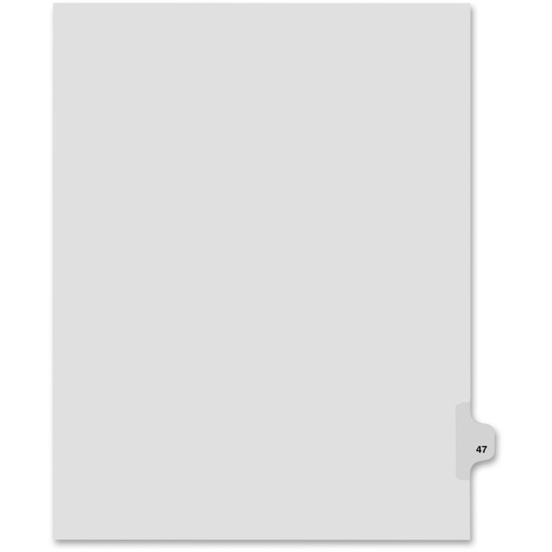Kleer-Fax Kleer-Fax 80000 Series Side Tab Legal Exhibit Index Divider 82247 KLF82247