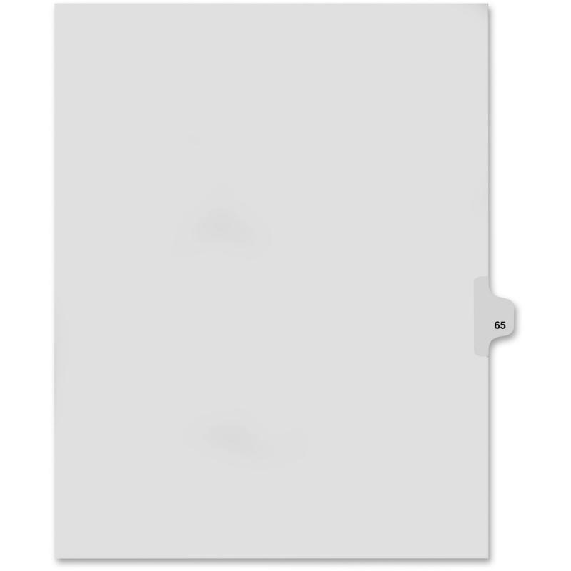 Kleer-Fax Kleer-Fax 80000 Series Numerical Side Tab Index Divider 82265 KLF82265