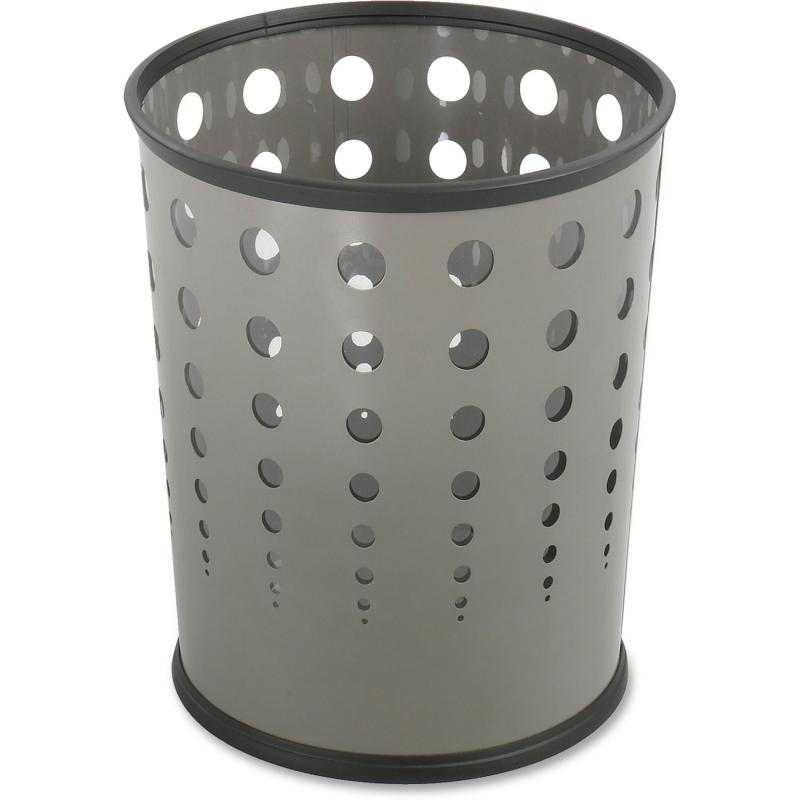Safco Safco Steel Bubble Wastebasket 9740GR SAF9740GR