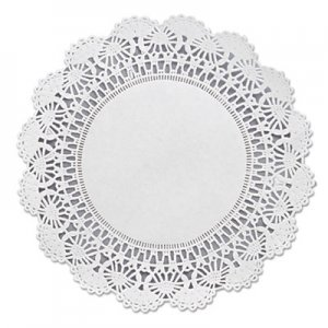 "Hoffmaster Cambridge Lace Doilies, Round, 8"", White, 1000/Carton HFM500236 500236"