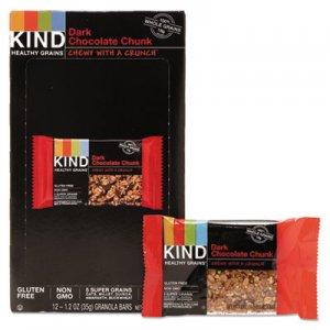 KIND Healthy Grains Bar, Dark Chocolate Chunk, 1.2 oz, 12/Box KND18082 18082