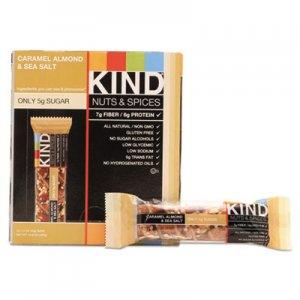 KIND Nuts and Spices Bar, Caramel Almond and Sea Salt, 1.4 oz Bar, 12/Box KND18533 18533